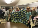 Youth group made blankets for needy